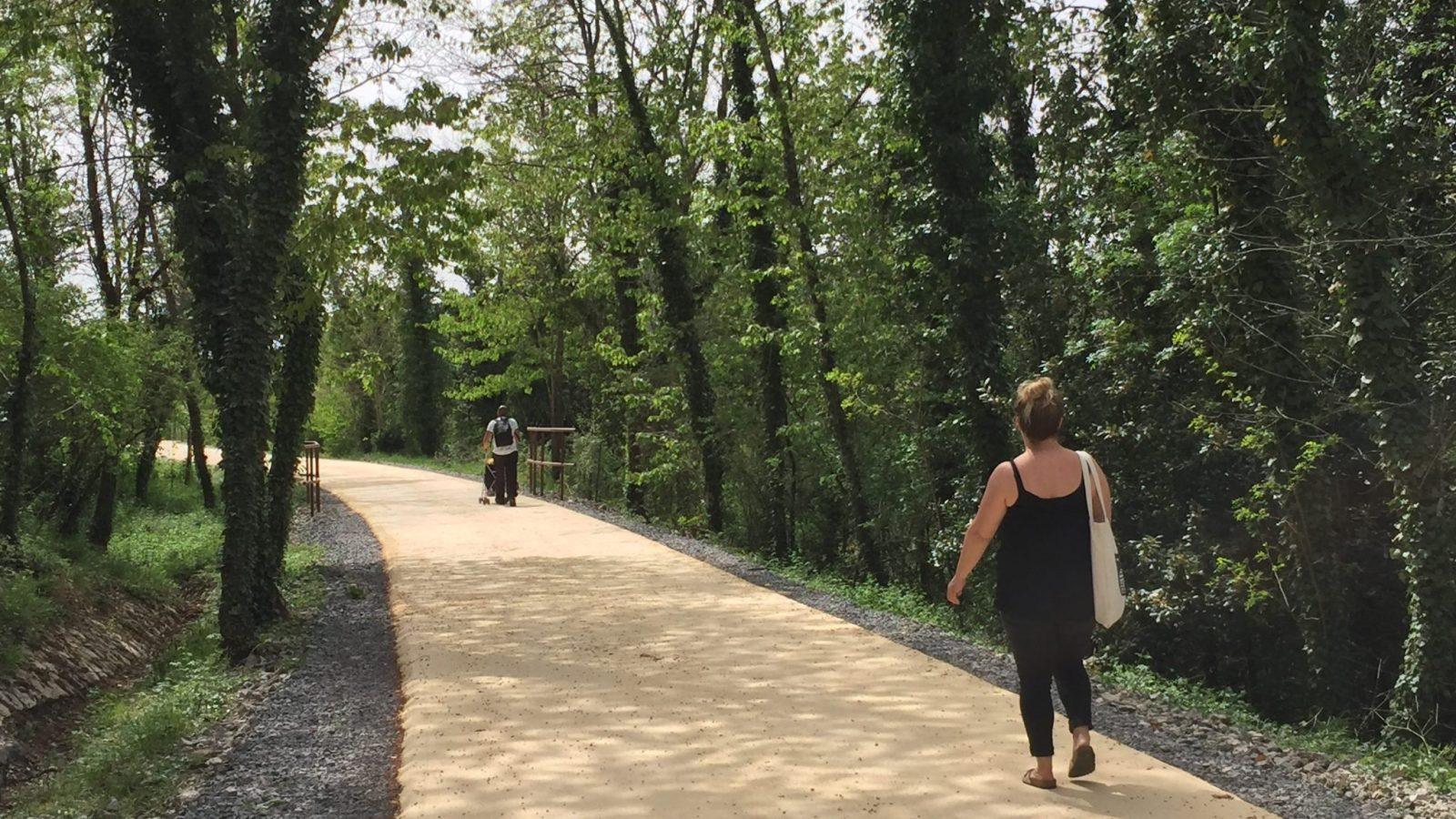 Pédaler sur la voie verte