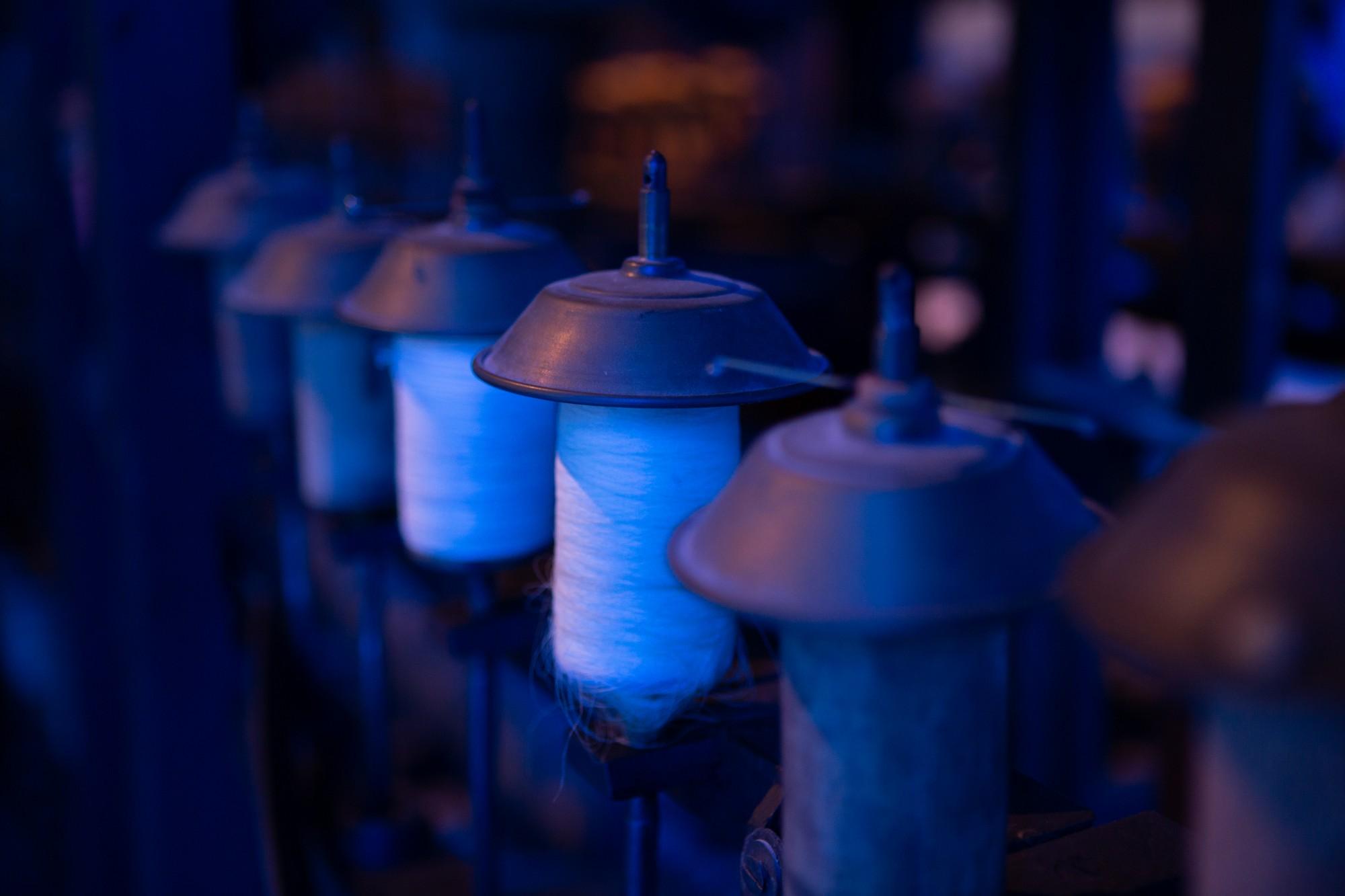 Chirols – Écomusée du moulinage – Bobines de fil