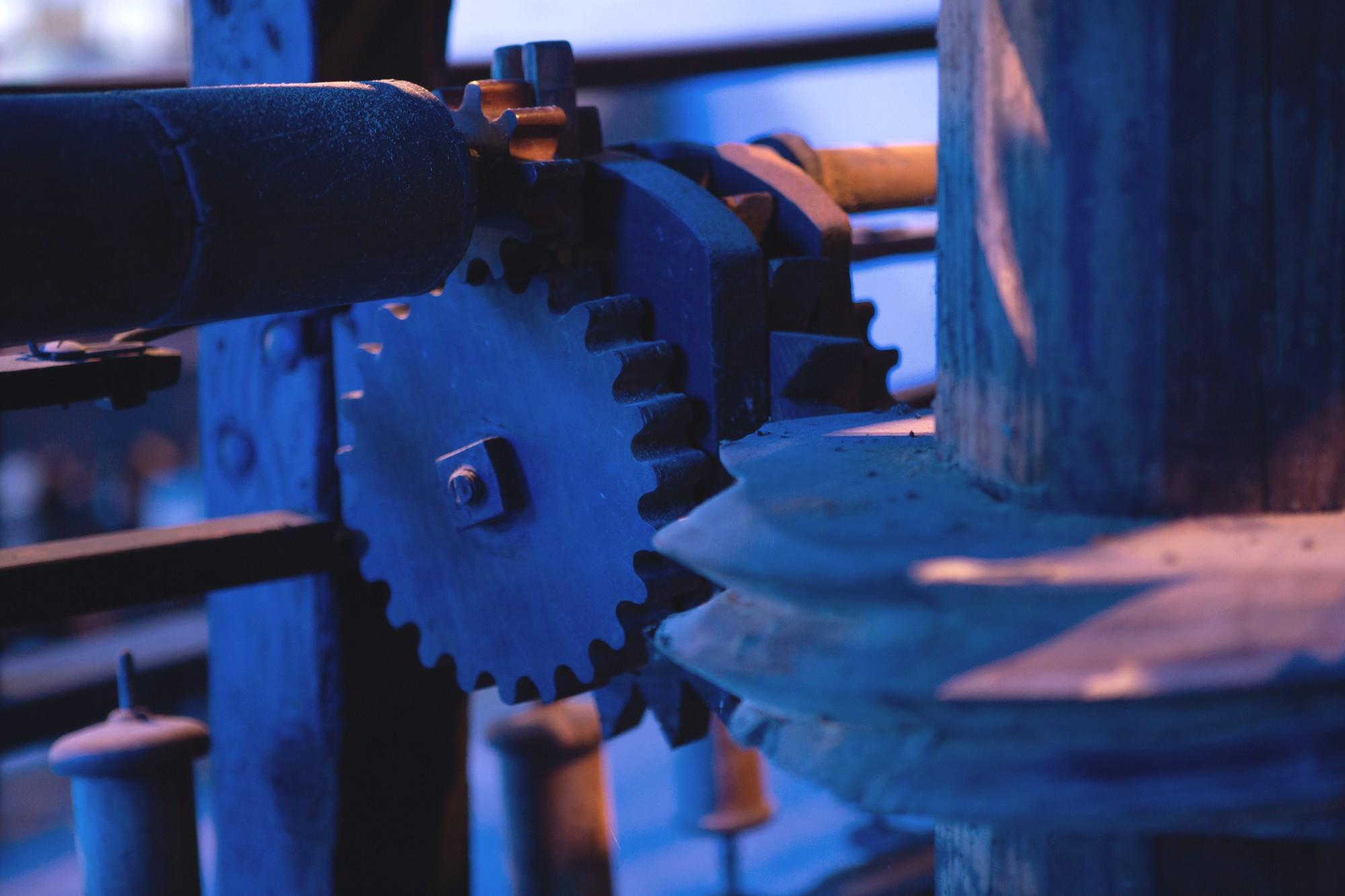 Chirols – Écomusée du moulinage – Rouage de machine